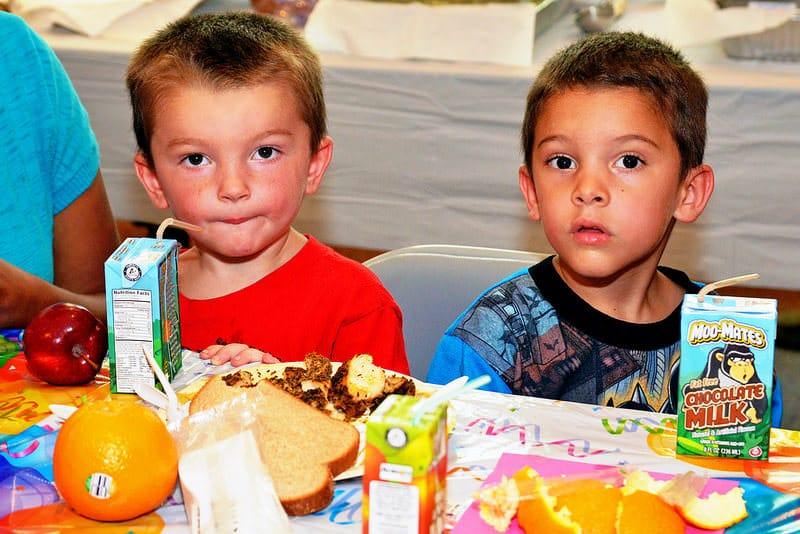 Children enjoying a nutritious USDA Summer Food Service Program meal in Virginia   Flickr
