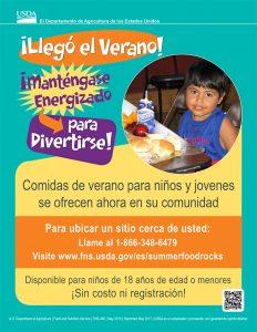 USDA Summer Food Service Program flyer en espanol