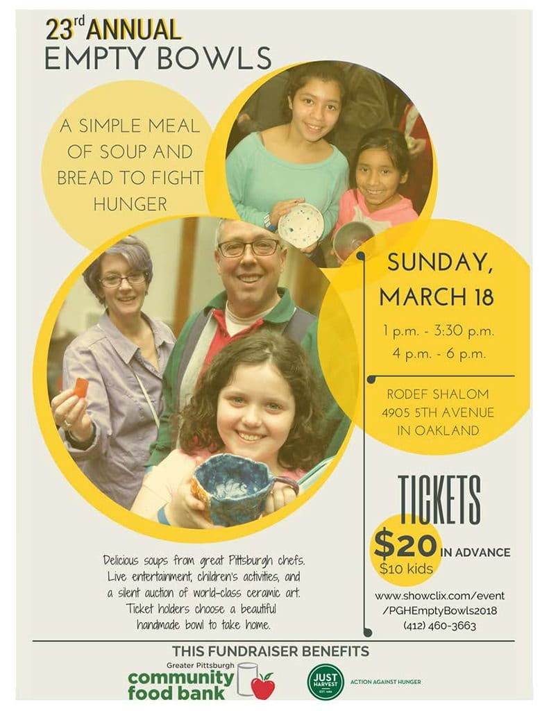 2018 Empty Bowls flyer