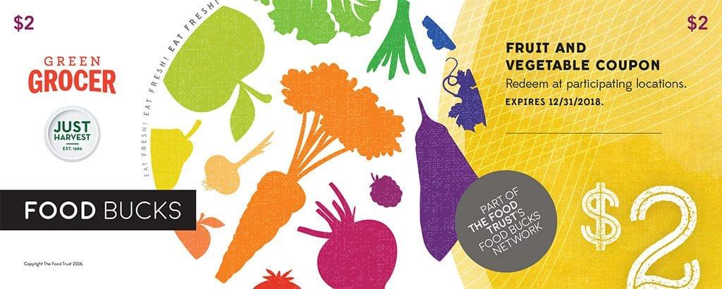 Food Trust Food Bucks Fruit and Vegetable coupon