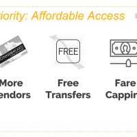 Priority: Affordable Access -- More Vendors, Free Transfers Fare Capping