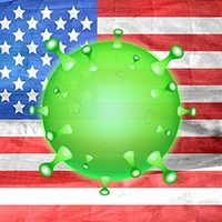 Coronavirus over US flag. Image by Vektor Kunst from Pixabay