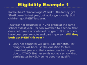 P-EBT Eligibility Example 1