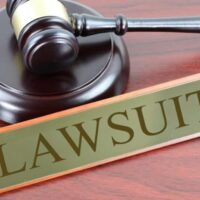 judge's gavel and lawsuit