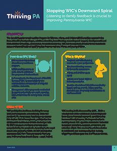Stopping WIC's Downward Spiral fact sheet