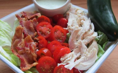 Chicken BLT Salad with Jalapeno-Ranch Dressing