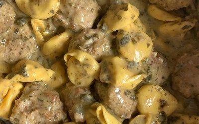 Crockpot Meatballs & Ravioli