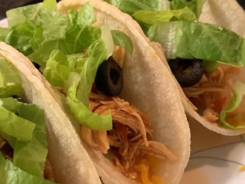 Salsa Chicken Tacos