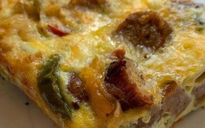 Sausage, Pepper & Onion Egg Bake