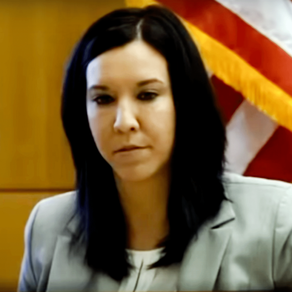 Dr. Janeen DeMarte providing expert testimony in court.