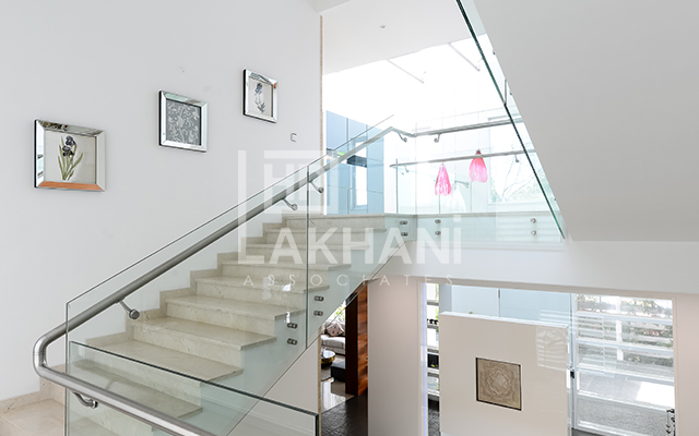beautiful indoor stairs design by HP Lakhani Associates