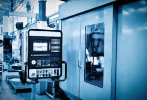 Panel of a cnc machine
