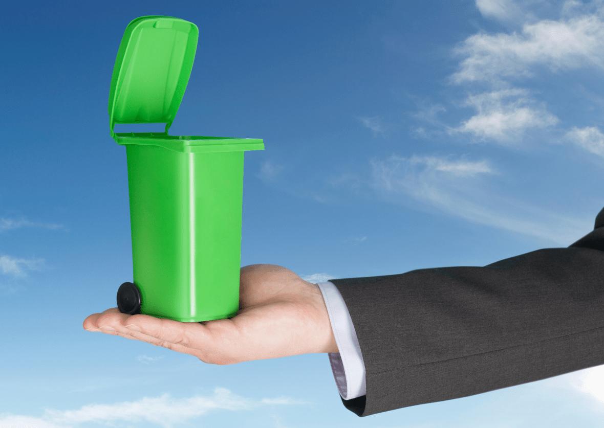 Smart waste management cover