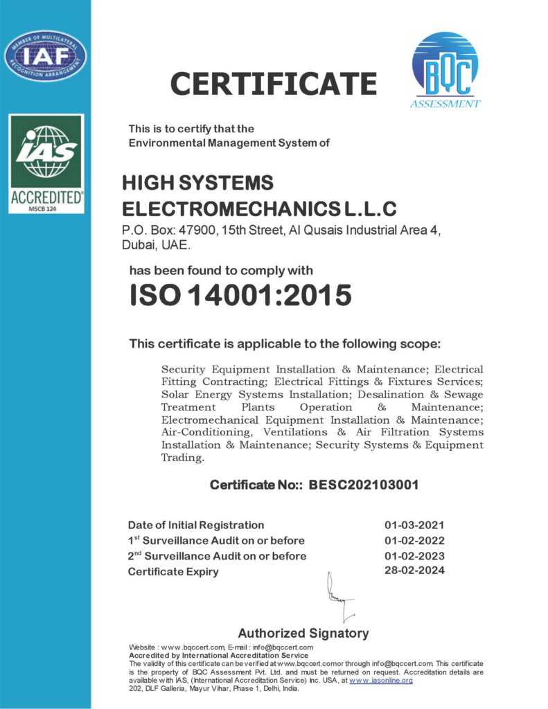 iso certification 14001