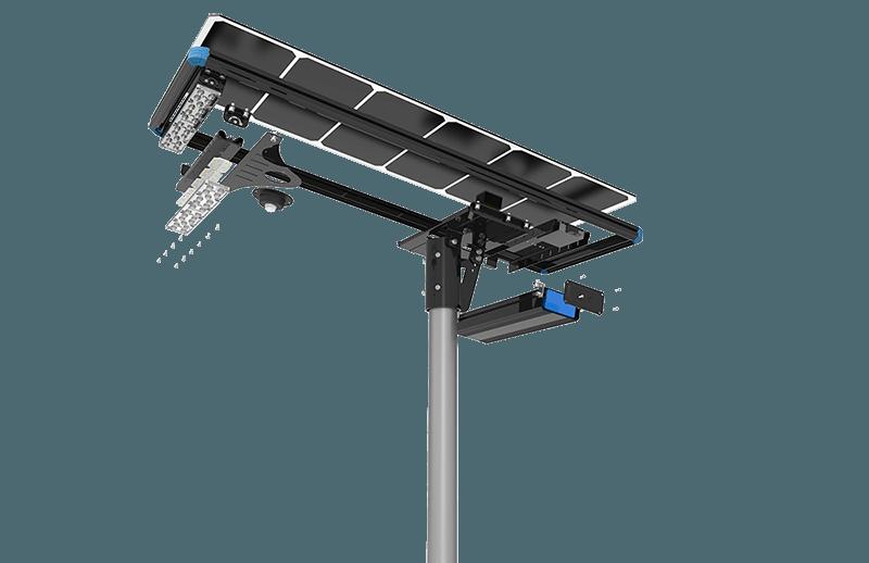 solar street lights components