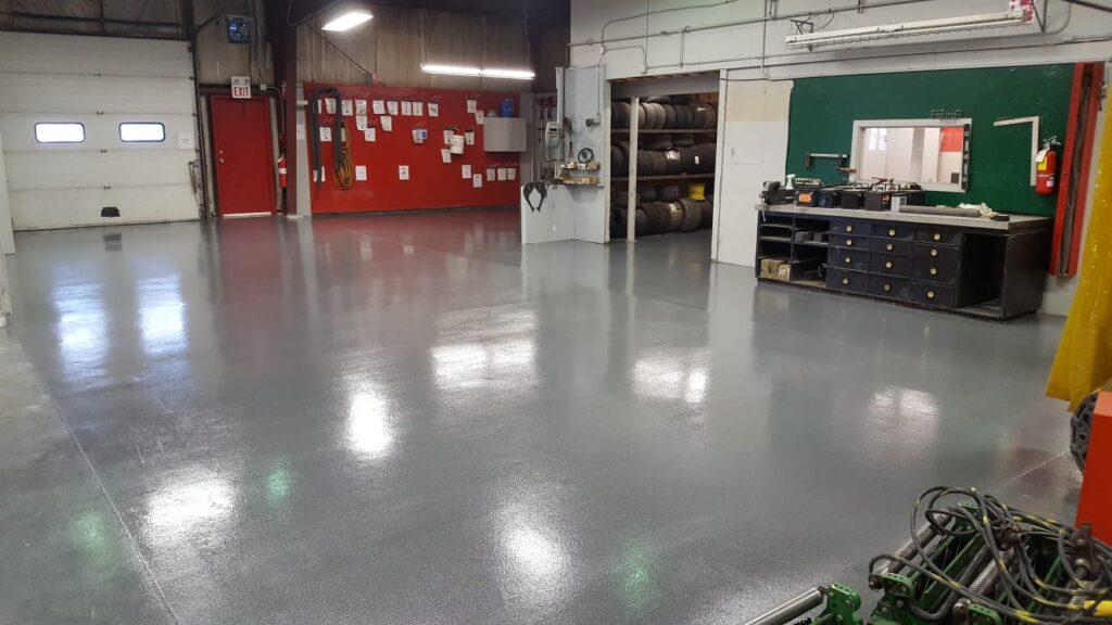 Alberta Mechanic Shop Epoxy Flooring