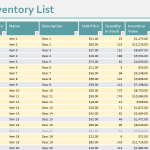 Inventory template for excel