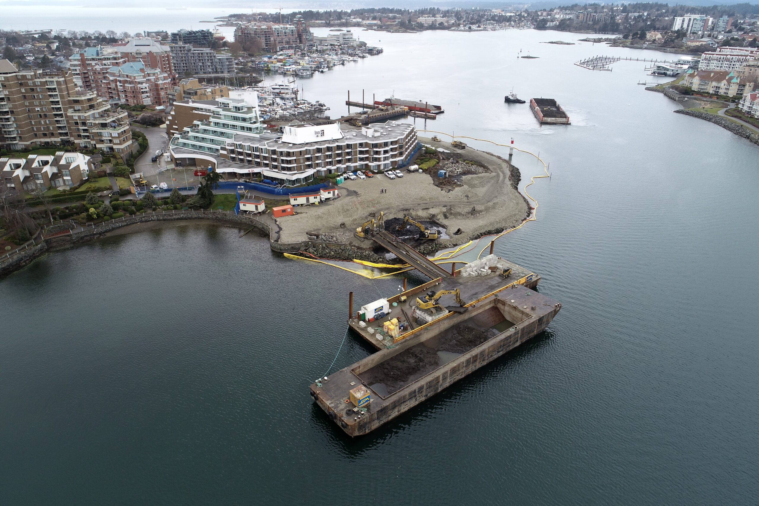 Middle Harbour Remediation Drone View