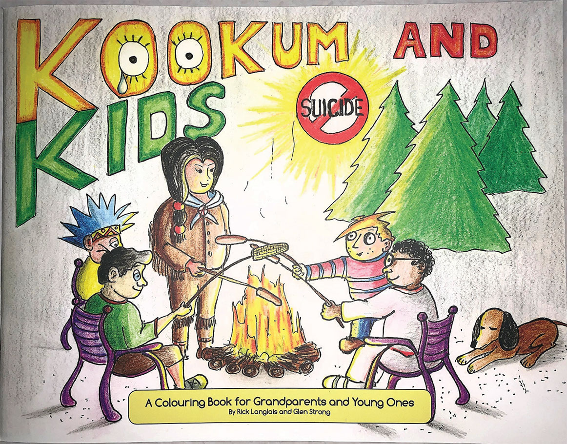 The Kookum and Kids colouring book