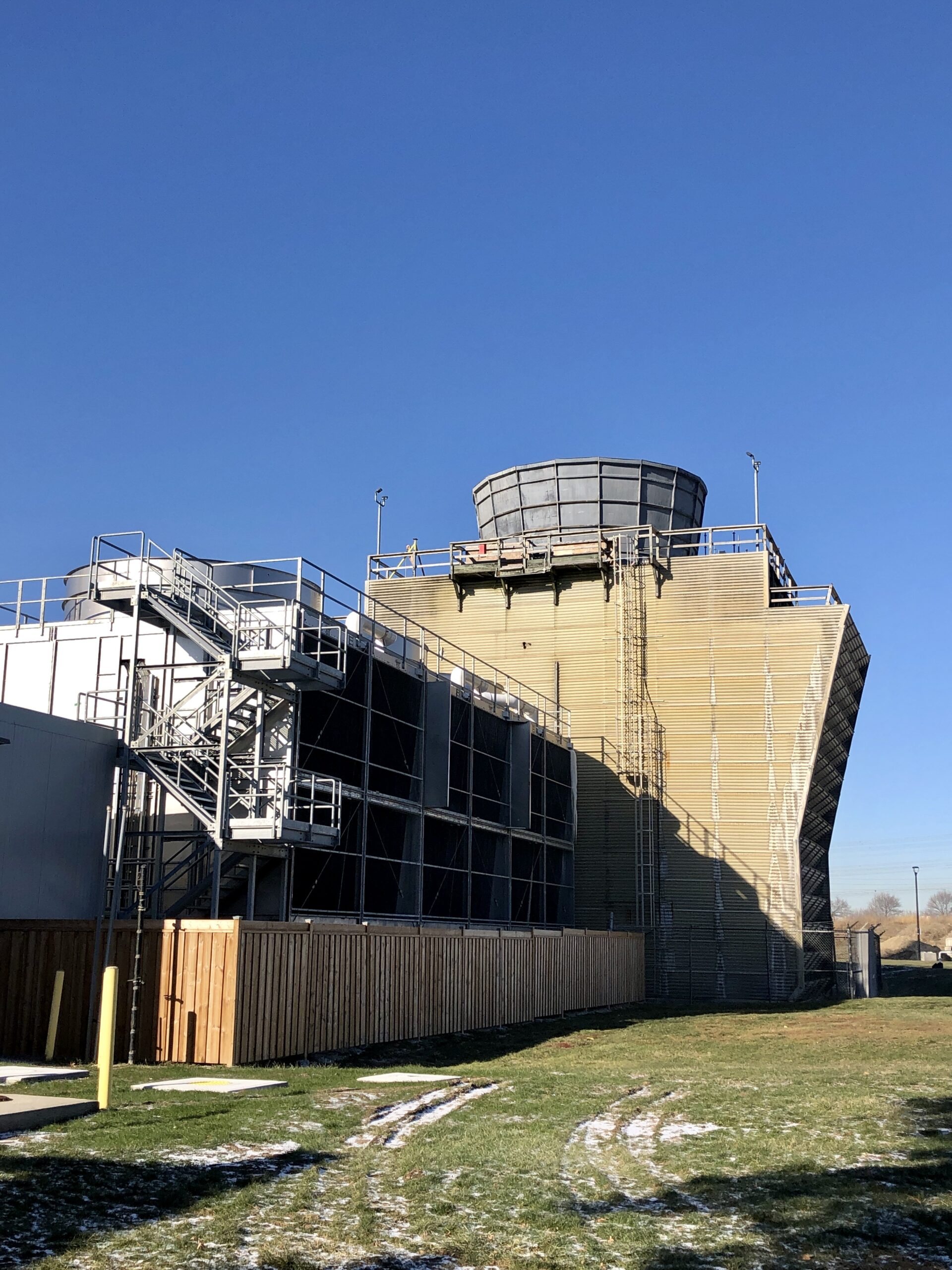 View of the cooling tower number 3 pre demolition Panoramic