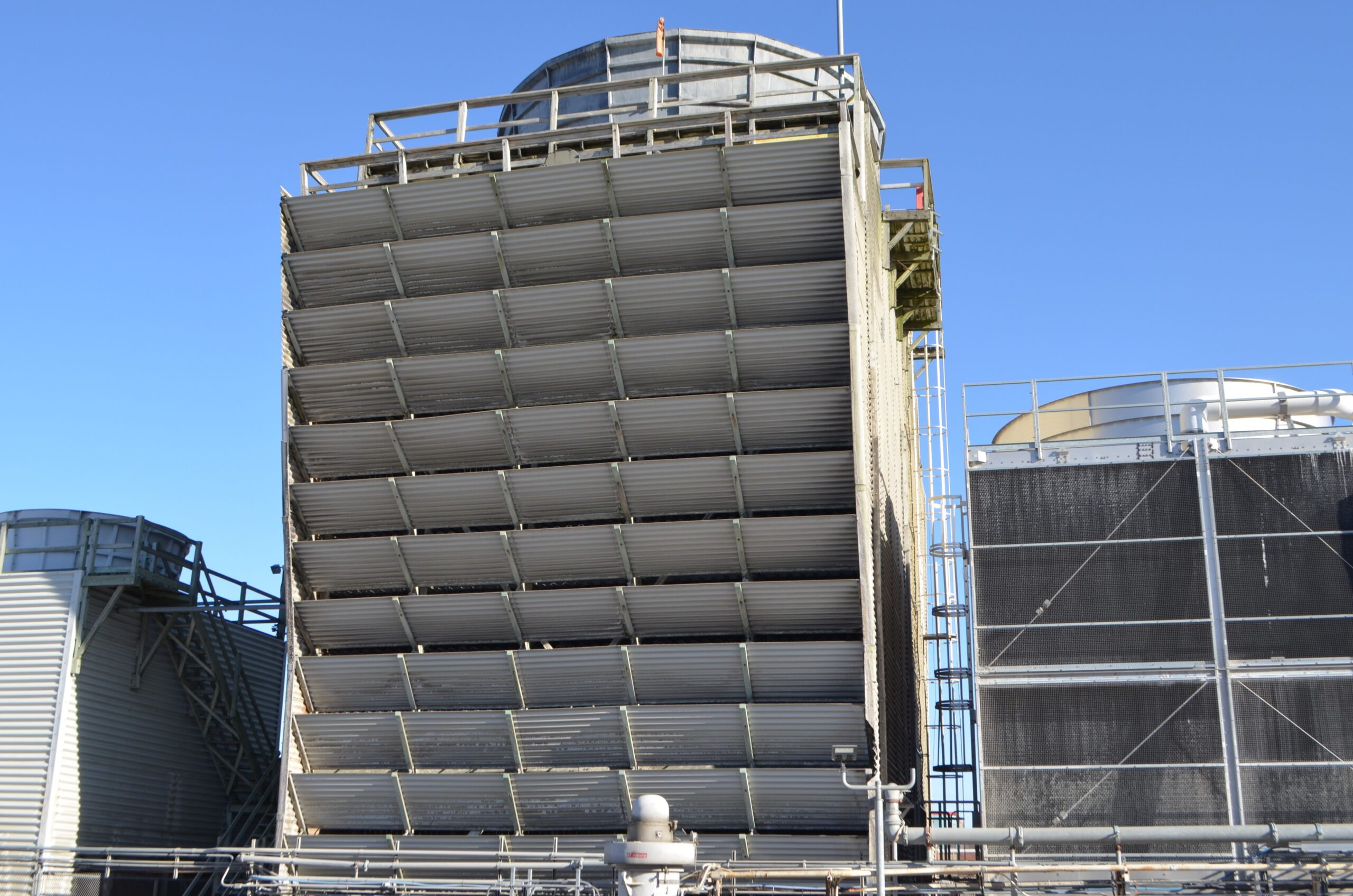 Cooling Tower Pre demolition Vertical View