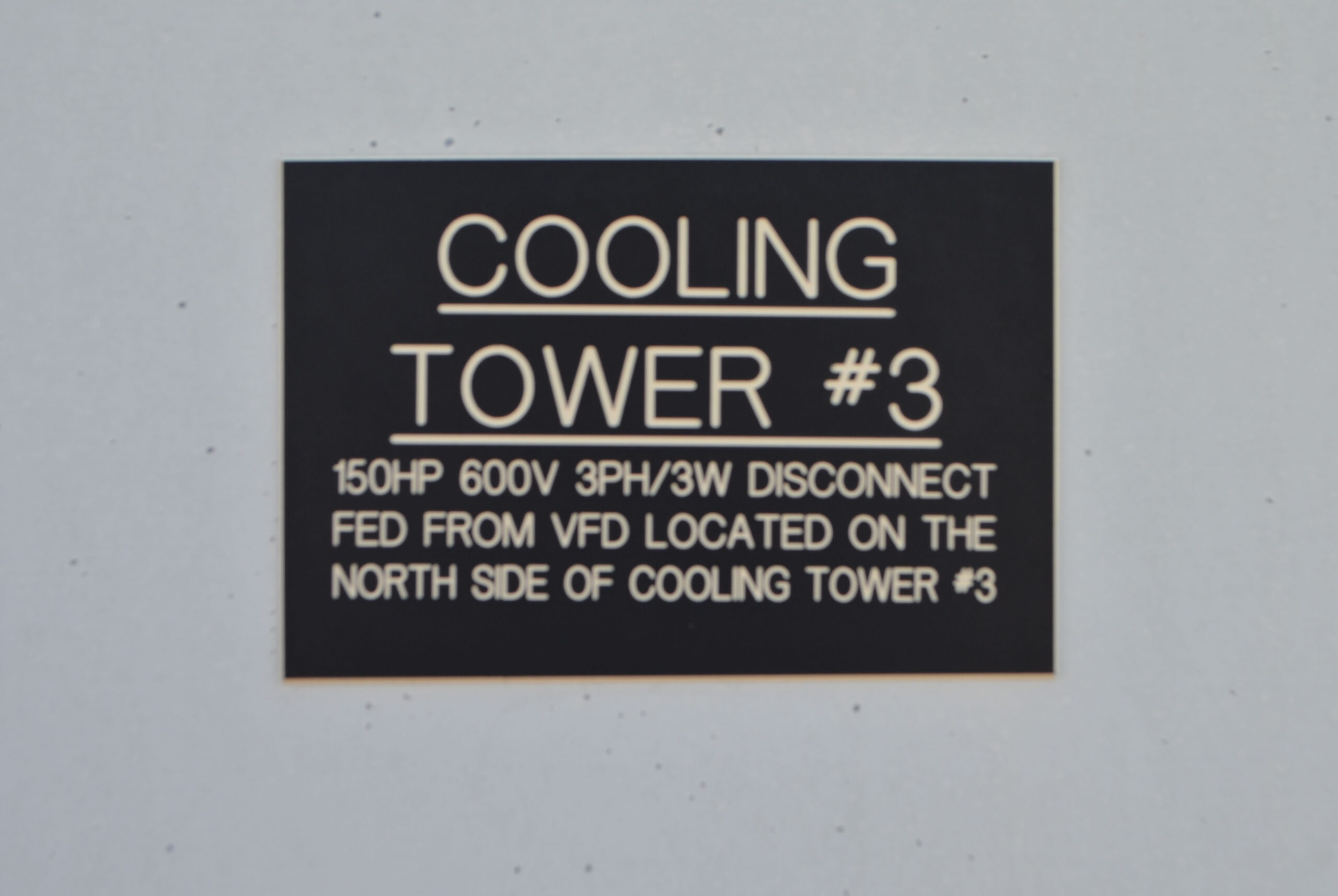 Cooling Tower Name Tag