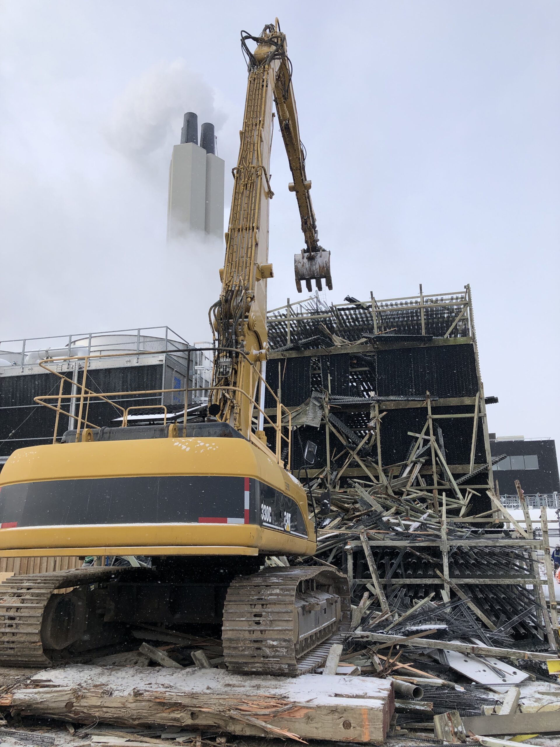 demolition of the Tower