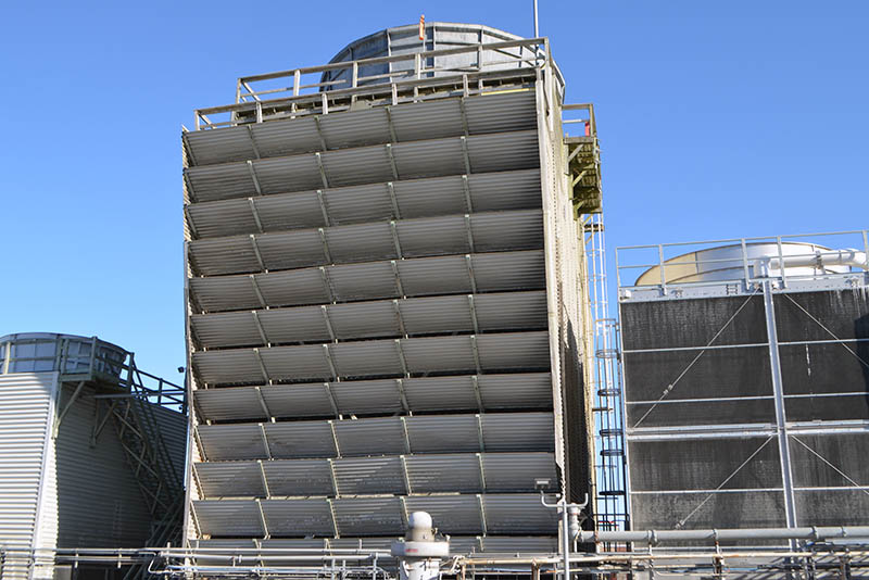 View of the cooling tower number 3 in toronto ontario