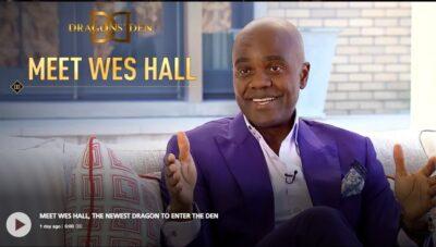 Wes Hall at Dragons Den