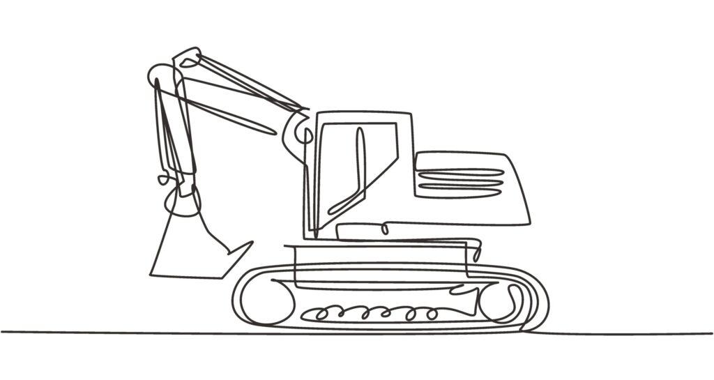 Excavator Drawing