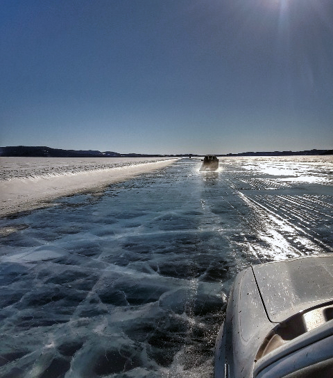 Ice Road in Athabasca