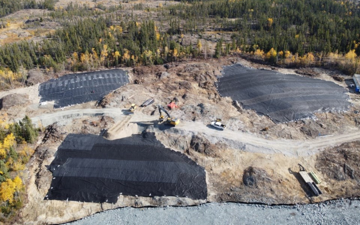 n aerial photo shows work at the Newcor mine site near Creighton, as of last month.