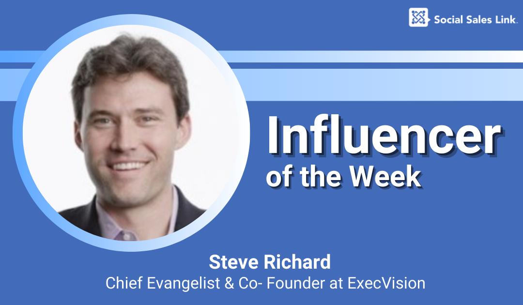 Influencer of the Week - Steve Richard