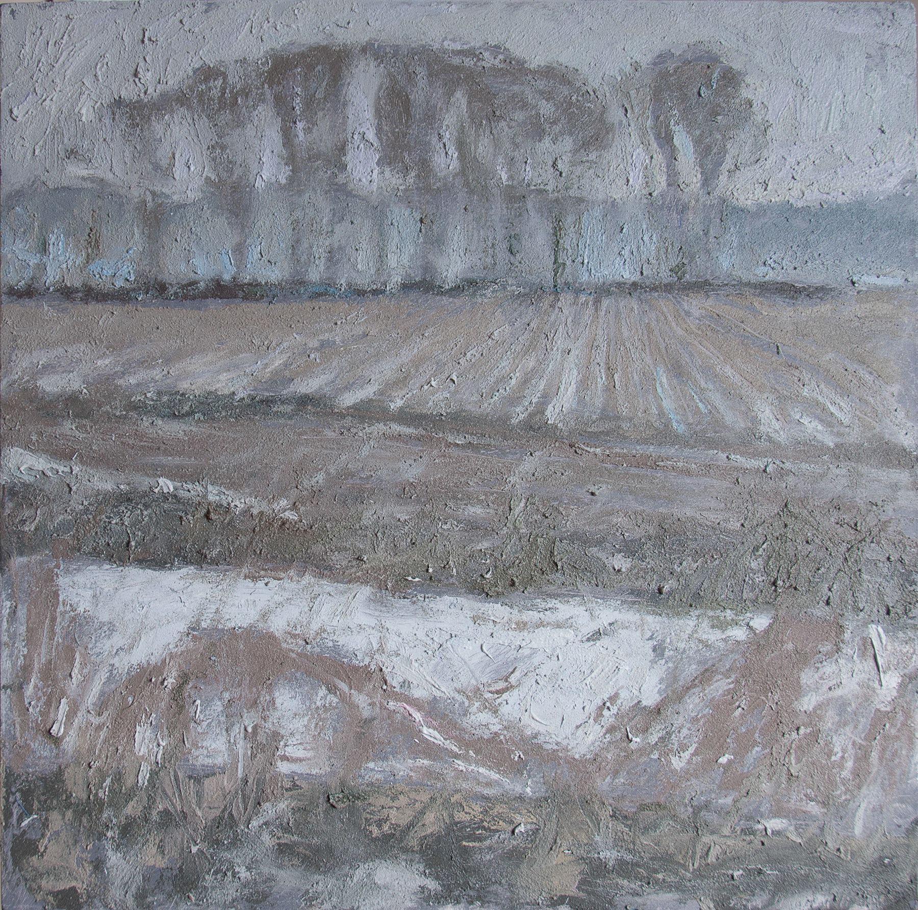 Brian Mahieu oil painting Snowfall at Dusk Cottonwood Grove