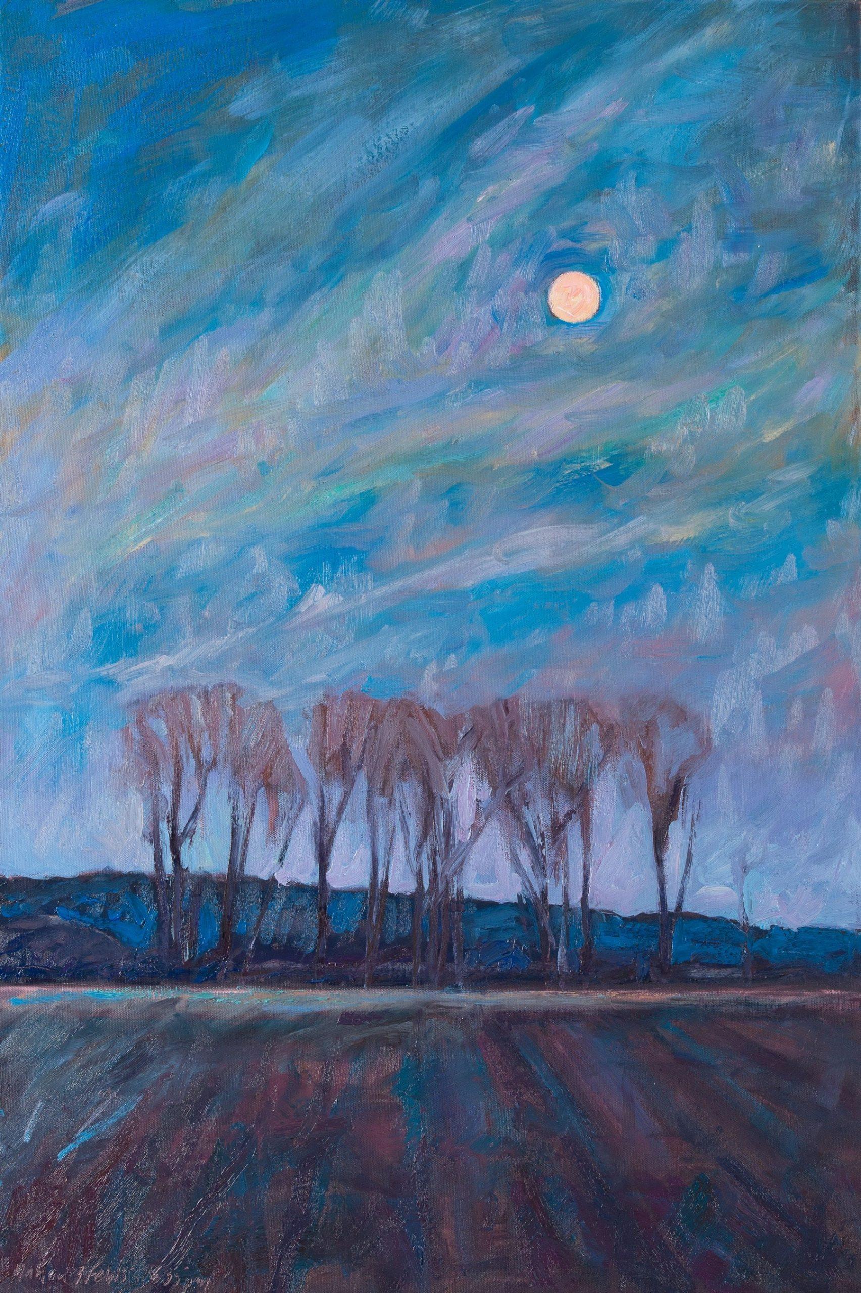 Moonrise Cottonwood Grove