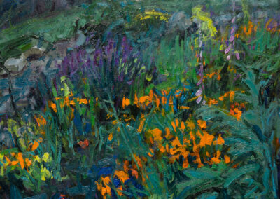 Poppy Garden—Nightfall, Rain