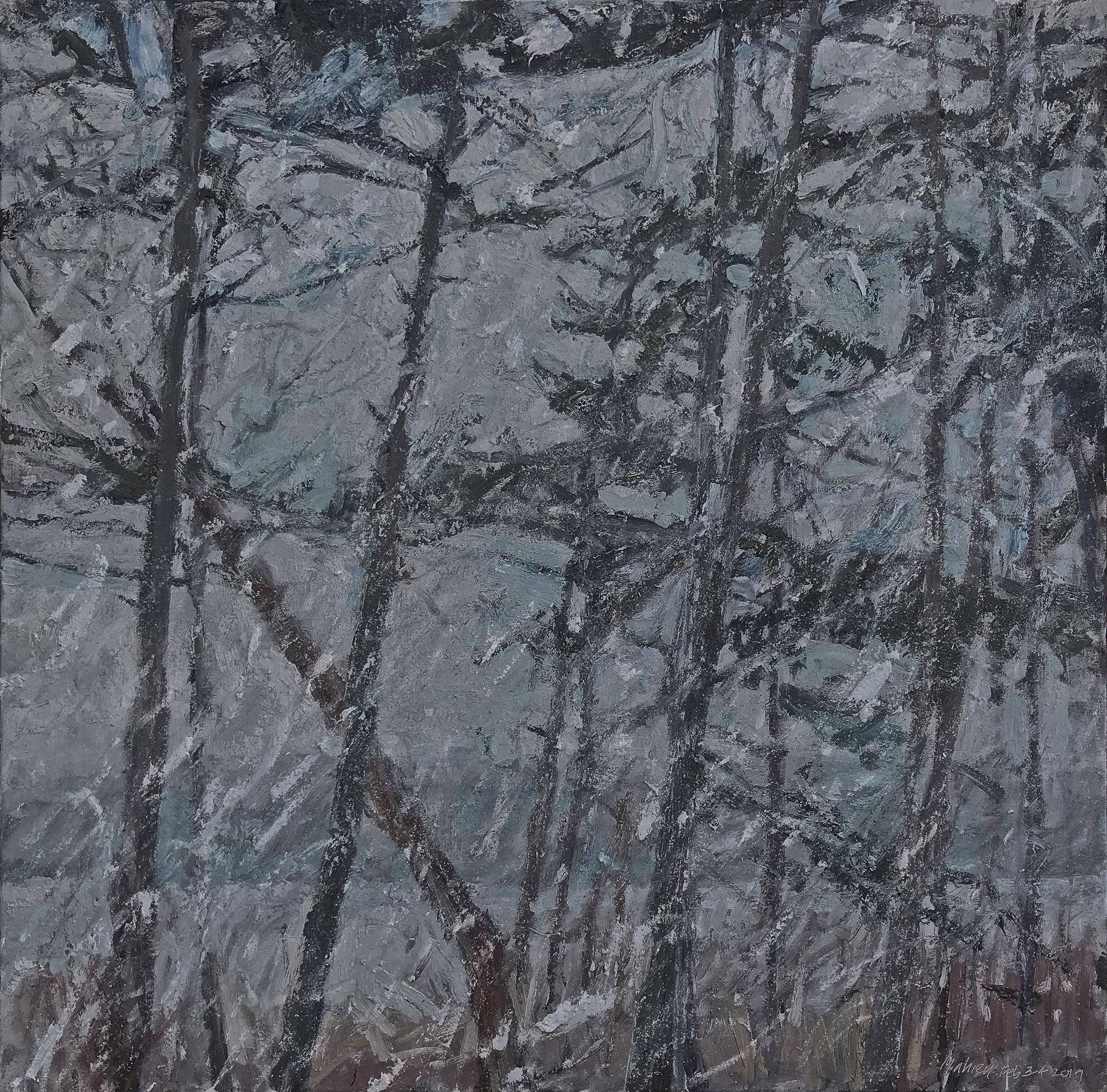 Snowfall at Dusk
