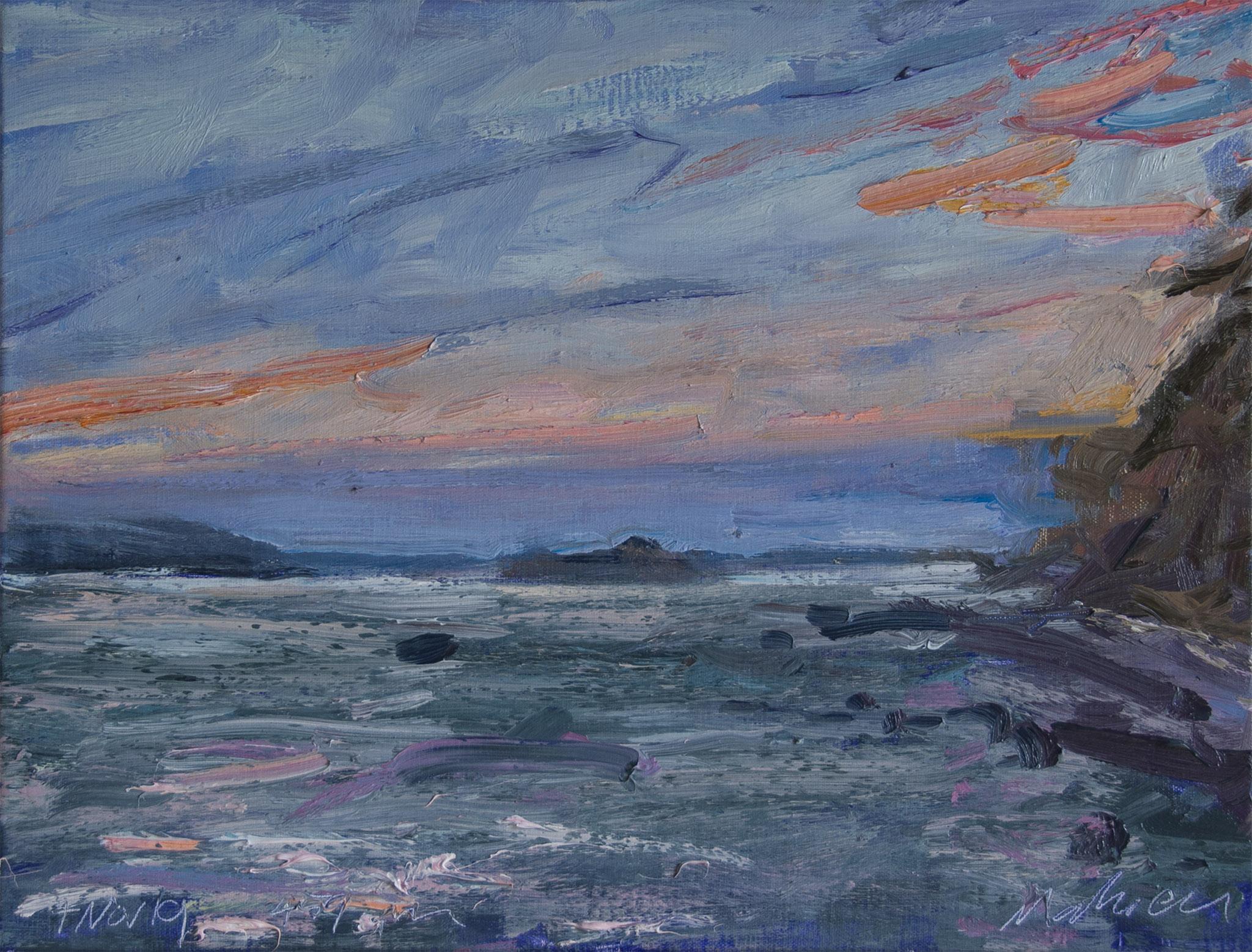Marine Sunset—Earth's Penumbra