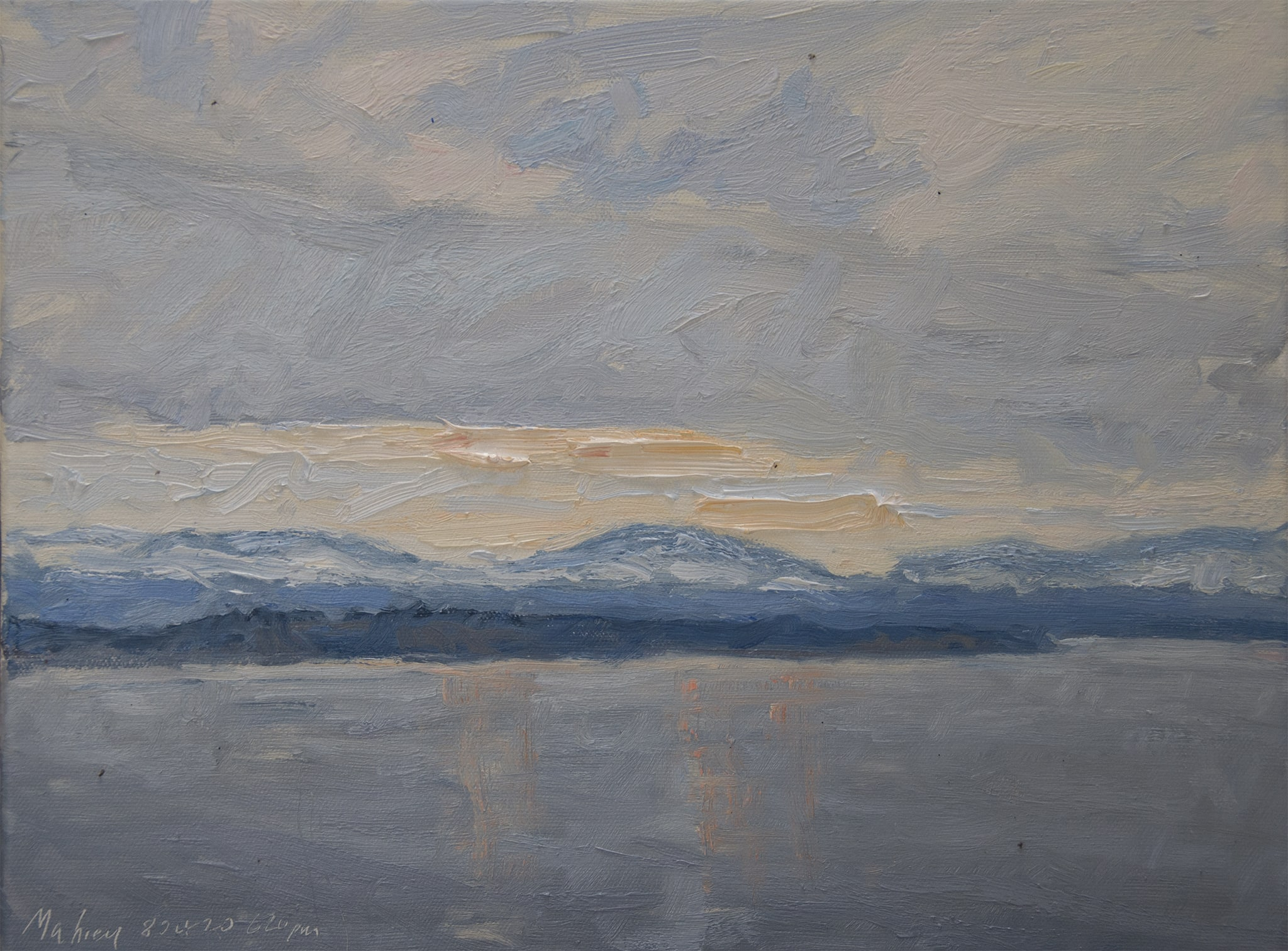 Low Cloud Deck—Olympic View at Sunset