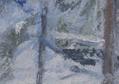 Snowfall at Dusk—Firs, Harbor View