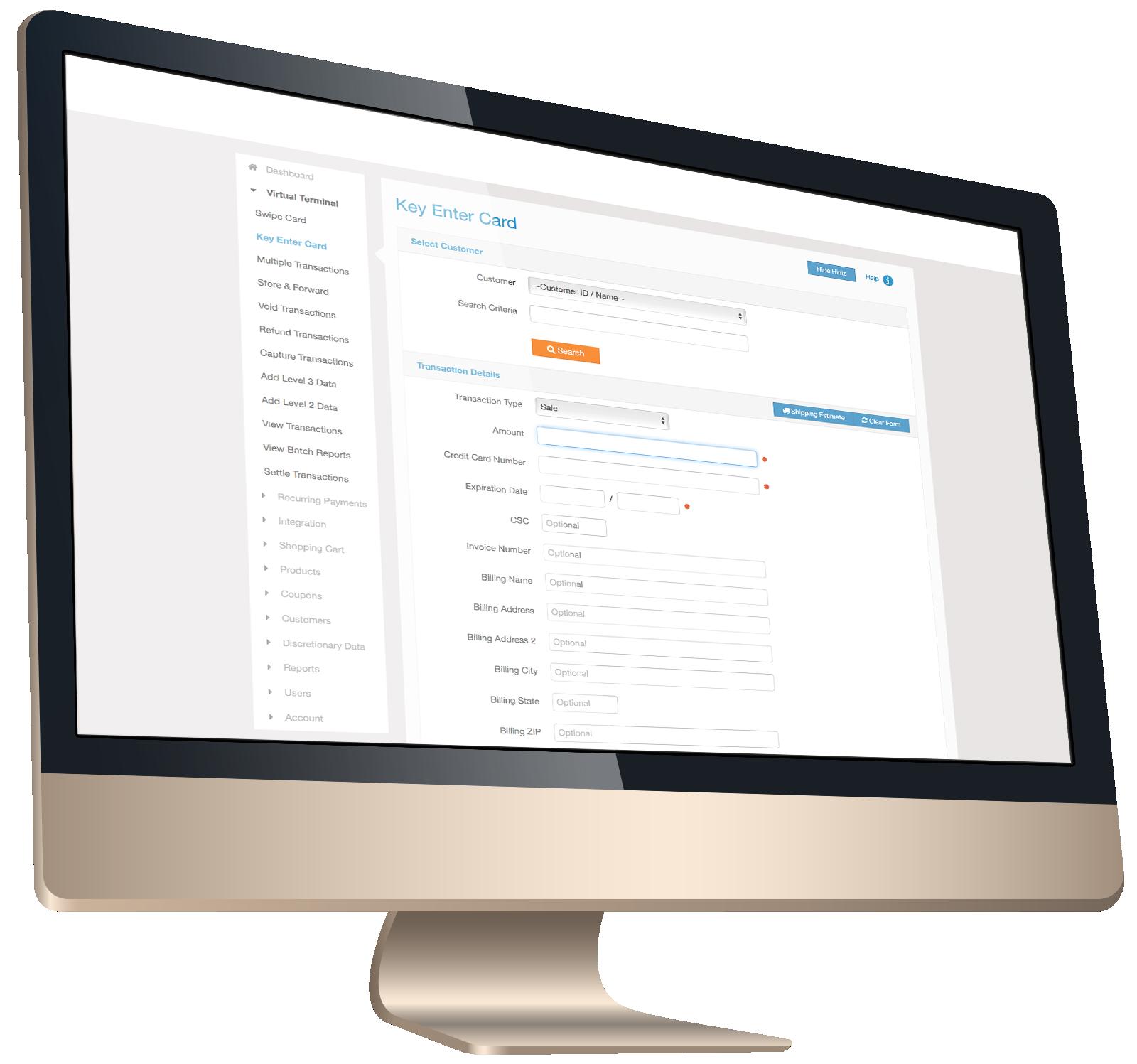 Virtual Terminal payment gateway