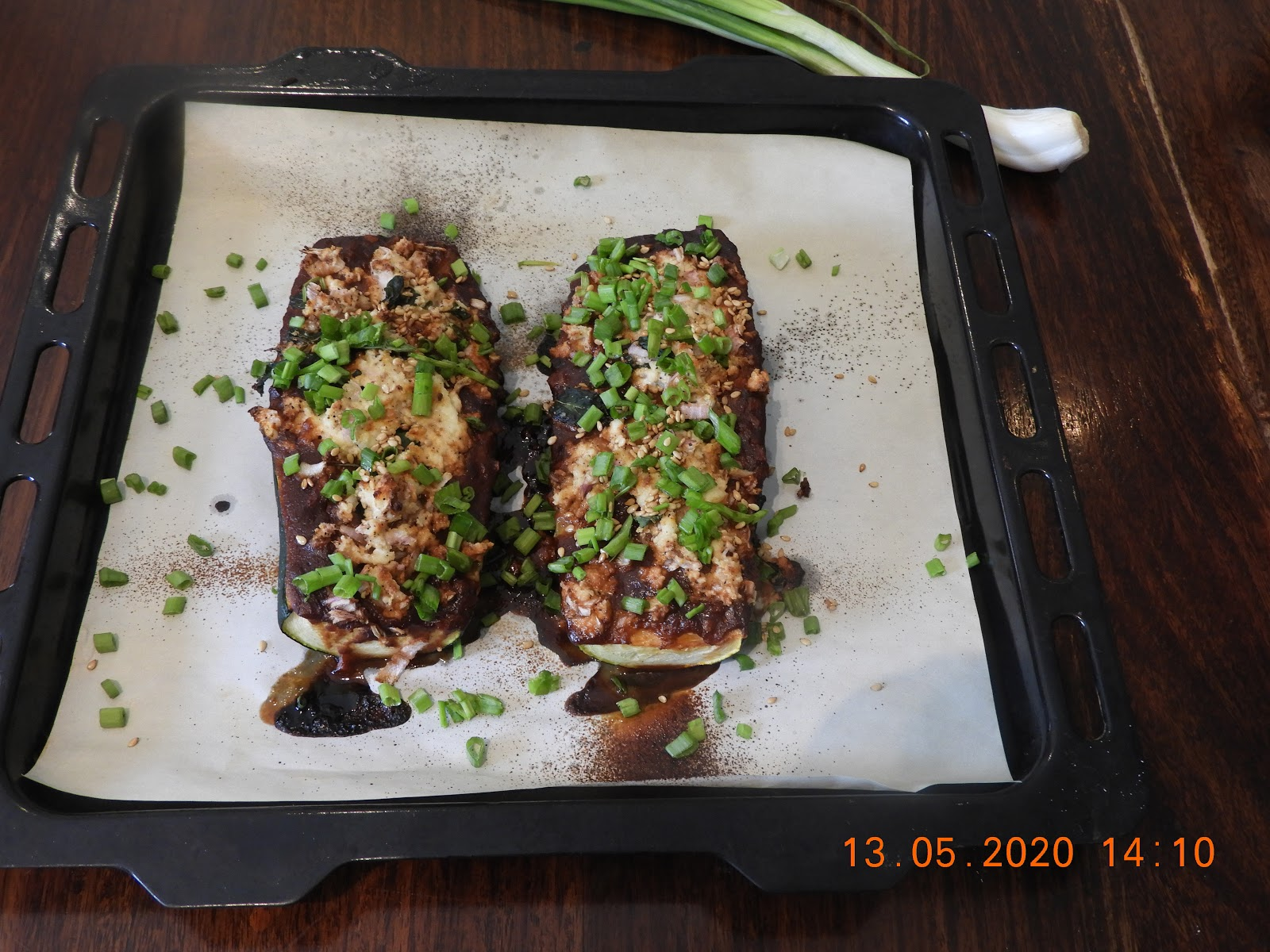 Cottage Zucchini Marinated in Miso Sauce - Asian Cuisine