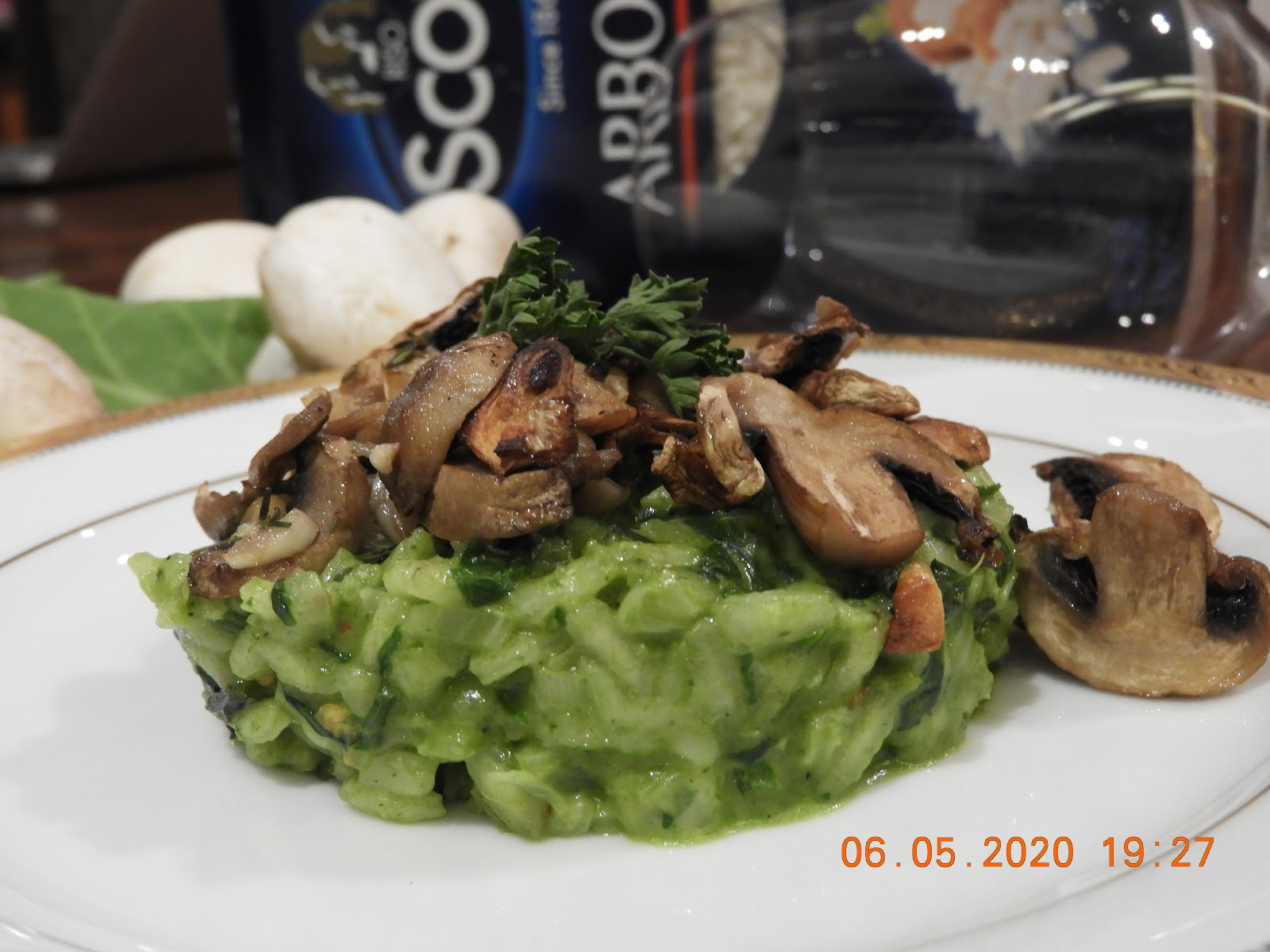 Spinach Risotto - Italian Cuisine at Kitchen by Nidhi