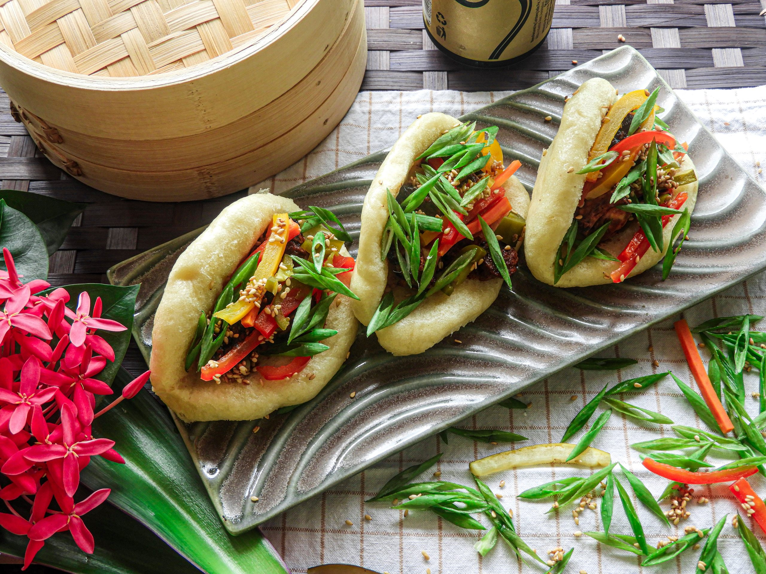 Steamed Bao Buns with Tofu- Korean cuisine at Kitchen by Nidhi