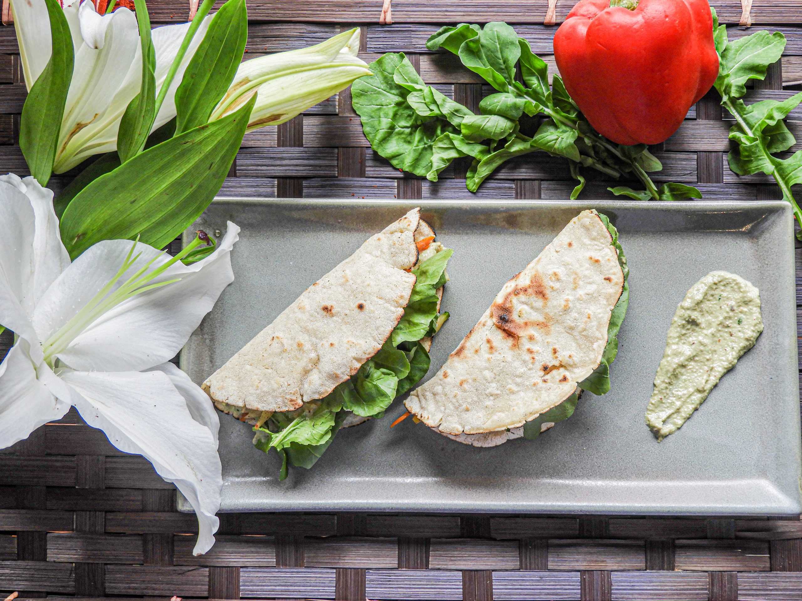 Vegetable Jawar Wrap with Pesto Sauce - Indian Cuisine at Kitchen by Nidhi