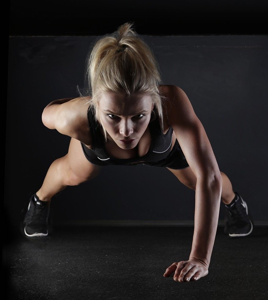 Image Of Woman Building Physical Strength