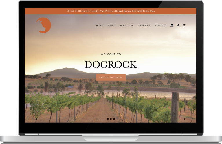Dogrock Winery Website
