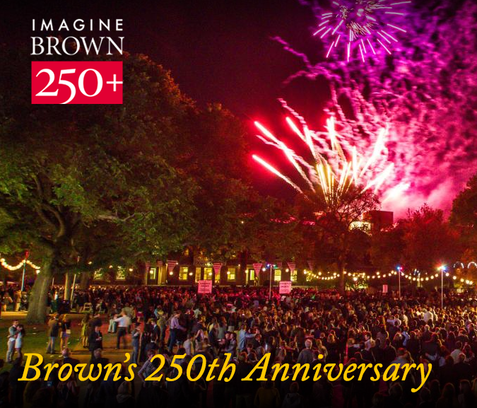 Fireworks from Brown's anniversary website home page