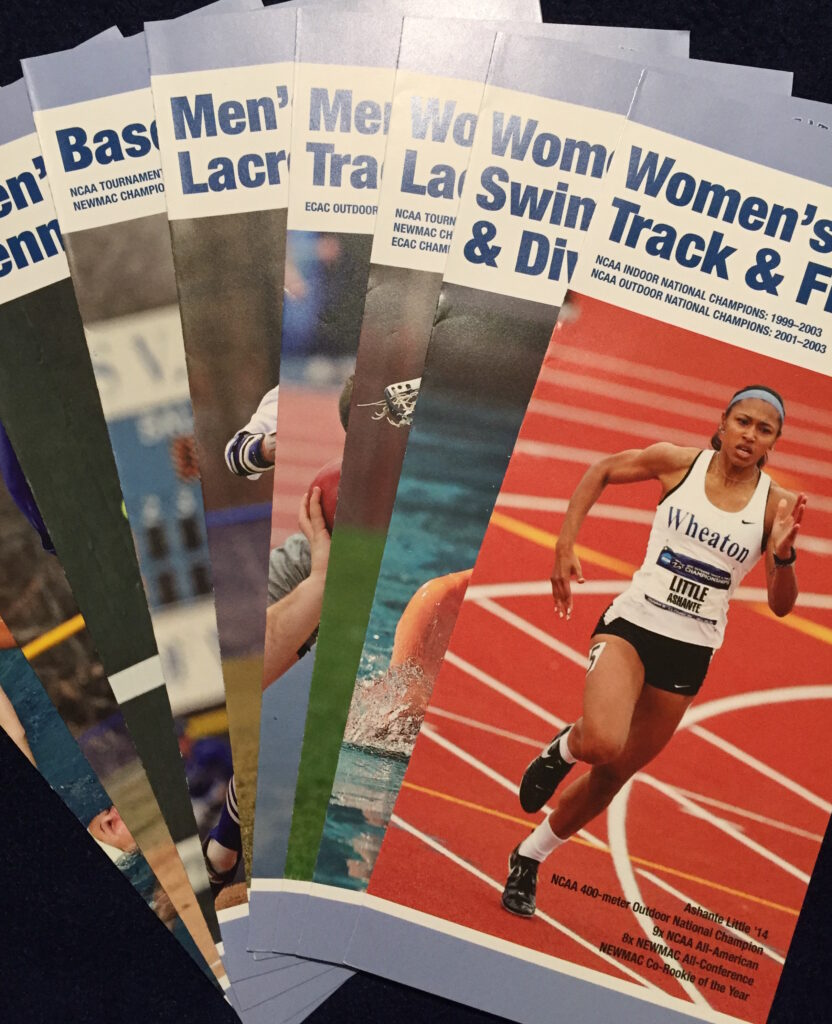 Photo of sports brochures