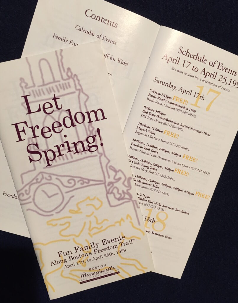 Photo of Freedom Trail brochures